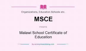 MSCE Examination Results